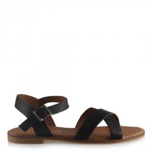 Siyah Çapraz Sandalet