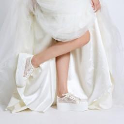 Спортивная Свадебная Обувь На Платформе Цвет Жемчужно Прозрачный