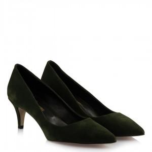 Stiletto Ayakkabı Yeşil Süet