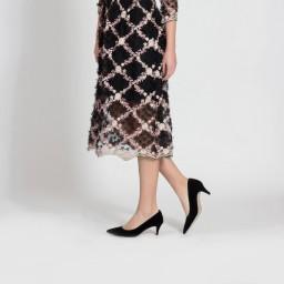 Stiletto Az Topuklu Siyah Süet Model