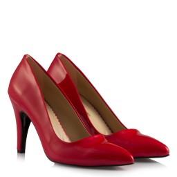 Stiletto Kırmızı Rugan Model