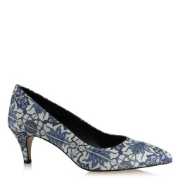 Stiletto Mavi Beyaz Desenli