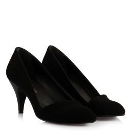 Замшевые Черные Туфли С Перекрещенными Полосками