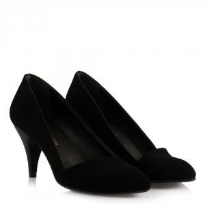 Stiletto Siyah Süet Çapraz Model