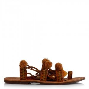 Taba Ponponlu Sandalet