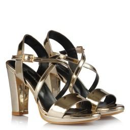 Topuklu Ayakkabı Dore Ayna Çapraz