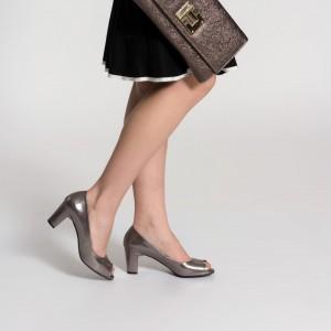 Topuklu Ayakkabı Füme Yaldızlı