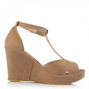 Vizon Süet Dolgu Topuk Ayakkabı