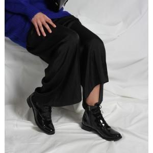 Bağcıklı Bot Siyah Rugan Günlük Model