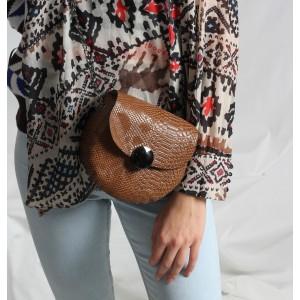 Çanta Yuvarlak Bayan Askılı Model Taba