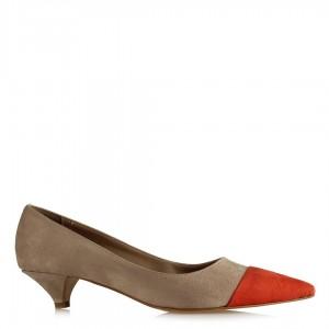 Stiletto Ayakkabı Turuncu Vizon