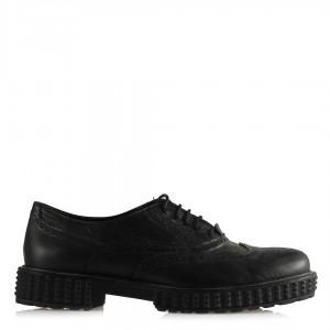 Oxford Ayakkabı Siyah Hakiki Deri