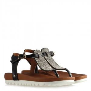 Taşlı Sandalet Siyah Modeller