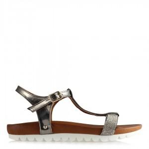 Taşlı Sandalet Füme Ayna