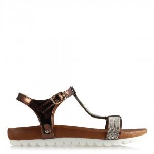 Taşlı Sandalet Bakır Ayna