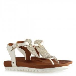 Taşlı Sandalet Beyaz Modeller