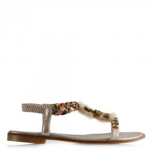 Dore Tasarım Taşlı Renkli Sandalet