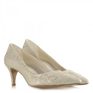 Nikah Ayakkabısı Az Topuklu Stiletto Dantel