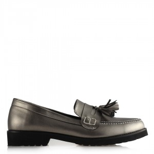 Düz Ayakkabı Platin Püsküllü