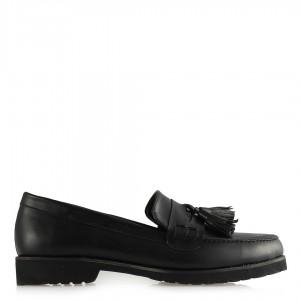 Düz Ayakkabı Püsküllü Siyah