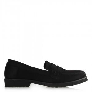 Düz Ayakkabı Siyah Süet