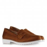 Ayakkabı Taba Süet Düz Model