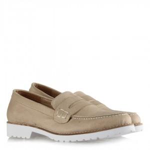Ayakkabı Ten Rengi Süet Düz Model
