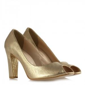 Topuklu Ayakkabı Dore Yaldızlı Model