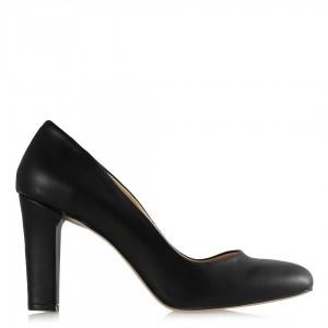 Topuklu Ayakkabı Siyah Mat Deri Modeli