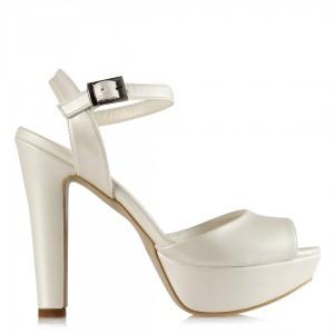 Gelin Ayakkabısı Kırık Beyaz Mat 19 Pont