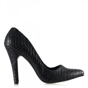 Kadın Stiletto Lacivert Crocodile Ayakkabı