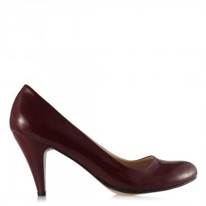 Topuklu Ayakkabı Bordo Rugan