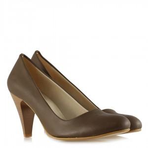 Topuklu Ayakkabı Vizon Rengi Günlük Model