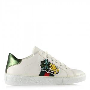 Beyaz Spor Ayakkabı Ananaslı