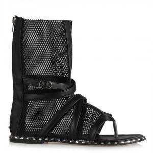 Siyah Yazlık Botie Sandalet