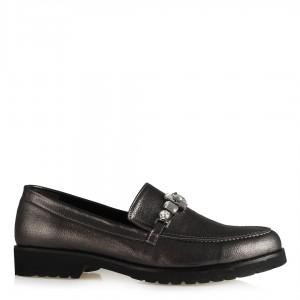 Ayakkabı Düz Model Füme Taşlı