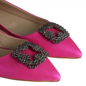 Babet Ayakkabı Fujya Tokalı Taşlı Füme