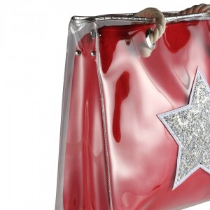 Kadın Çanta Büyük Boy Kırmızı Yıldız