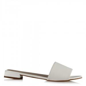 Terlik Düz Model Beyaz Renk