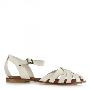 Sandalet Kafes Model Beyaz Renk