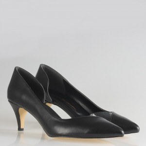 Stiletto Siyah Yanı Açık Şeffaf