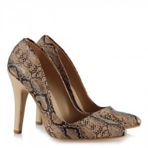 Kadın Yılan Baskılı Stilletto Ayakkabı