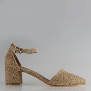 Az Topuklu Stiletto Hasır Çapraz Model