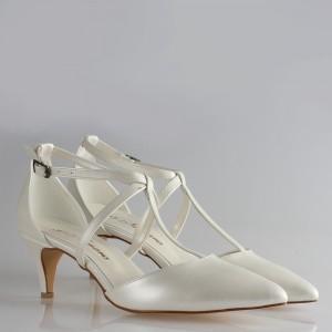 Gelin Ayakkabısı  Stiletto Az Topuklu Kemerli