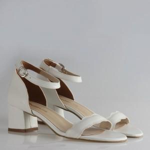 Gelin Ayakkabısı  Sandalet Dalgalı Bantlı