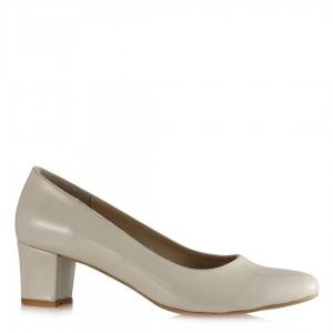Bej Rugan Casual Topuklu Ayakkabı