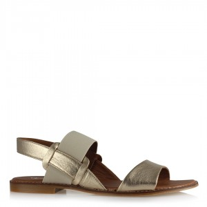 Sandalet Altın Rengi Lastikli