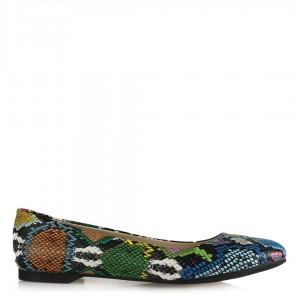 Babet Ayakkabı Renkli Yılan