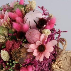 Gelin Buketi Pembe Kuru Çiçekler