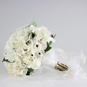 Gelin Buketi Beyaz Ortanca